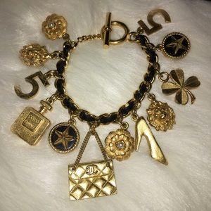 CHANEL Jewelry - Vintage Chanel Leather Charm Bracelet